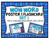 WOW Word Poster AND Flashcard Set 1 Bundle