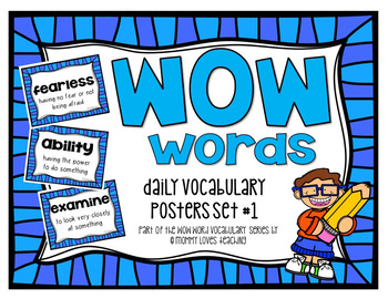 WOW Word Vocabulary Posters Set 1