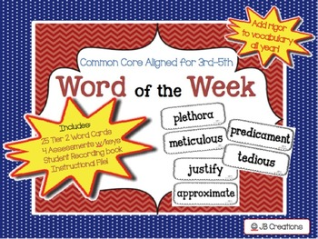 WOW:  Word of the Week Intermediate Program (tier 2 vocabulary enrichment!)