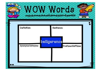 WOW Words - Challenging 1