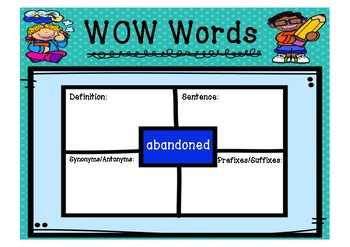 WOW Words - Difficult 1