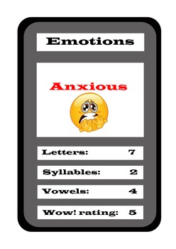 WOW! Words (Top-Words Emotions Game)