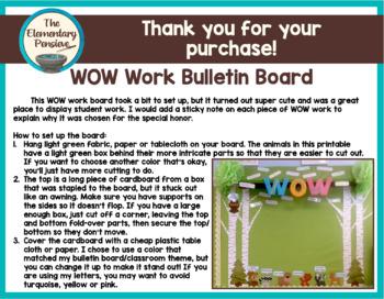WOW Work Display