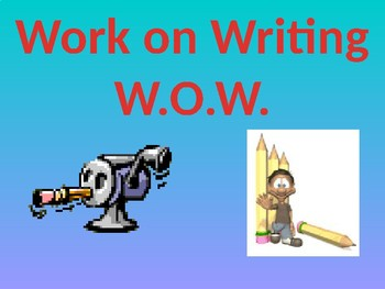 WOW- Working On Writing skills(écriture anglais langue seconde)