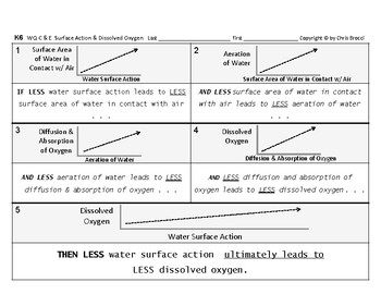 WQ 14: Water's Surface Action Turbulence Dissolved Oxygen CAUSE & EFFECT Graphs