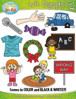 WR- Digraphs Words Clipart Set — Includes 20 Graphics!