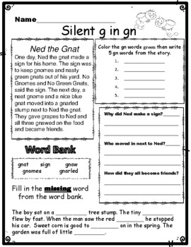 Wr Gn Mb And Kn Silent Letters By Kindergarten