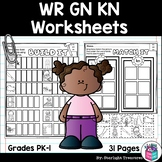 WR, KN, GN Worksheets and Activities for Early Readers - Phonics