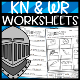 WR and KN Silent Letter Worksheets: Sorts, Read and Draw, Cloze, and More!