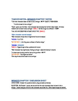 WRINGER COMPREHENSIVE READING GUIDE