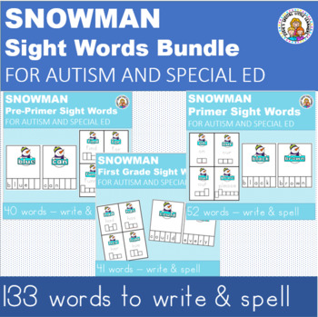 WRITE AND SPELL SIGHT WORD BUNDLE FOR AUTISM AND SPECIAL EDUCATION