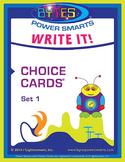 BYTES Power Smarts®: WRITE IT! CHOICE CARDS® - SET 1