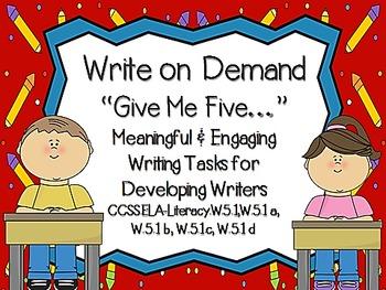 WRITE ON DEMAND: Give Me Five W.5.1