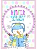 WRITE ON! {EDITABLE} WINTER NEWSLETTERS & STATIONARY