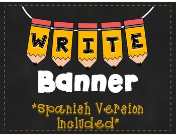 WRITE  Pencil Banner
