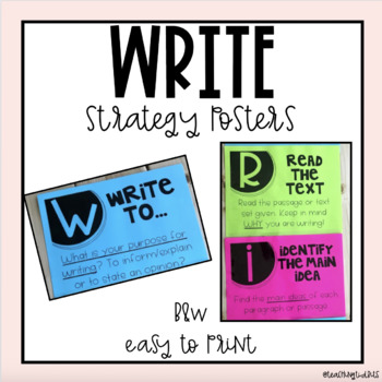 WRITE Strategy Posters