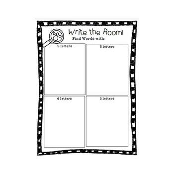 WRITE THE ROOM! 7 Different Forms!