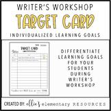 WRITING - WRITER'S WORKSHOP | Target Card