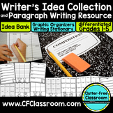 PARAGRAPH WRITING PRACTICE | WRITING PROMPTS | Paragraph Graphic Organizer
