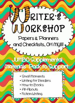 WRITERS WORKSHOP - Papers & Planners and Checklists, OH MY!!!
