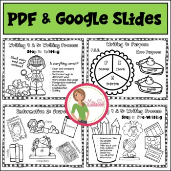 WRITING 4th Grade ANCHOR CHARTS FOR STUDENTS