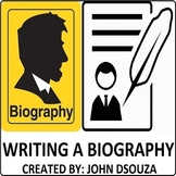 WRITING A BIOGRAPHY: LESSON AND RESOURCES - 6 SESSIONS