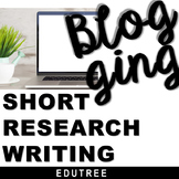 HOW TO WRITE A BLOG POST - SHORT RESEARCH & INFORMATIVE WRITING