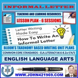 FRIENDLY/INFORMAL LETTER WRITING: LESSON & RESOURCES