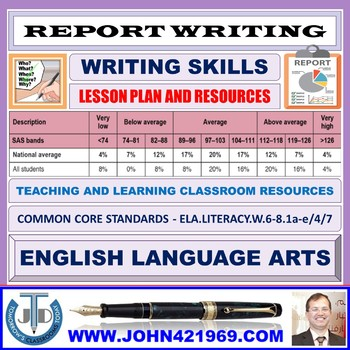 REPORT WRITING : LESSON PLAN AND RESOURCES