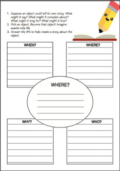 WRITING ACTIVITIES Lesson Plans 1 Graphic Organizer Grades 3-6