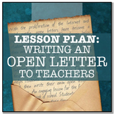 WRITING LESSON: An Open Letter To Teachers