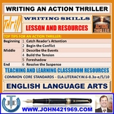 WRITING AN ACTION THRILLER : LESSON AND RESOURCES