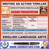 WRITING AN ACTION THRILLER : LESSON PRESENTATION