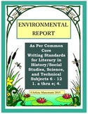 ENVIRONMENT WRITTEN REPORT Essay Template and Directions