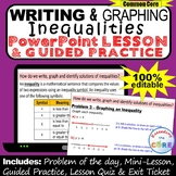 WRITING AND GRAPHING INEQUALITIES PowerPoint Mini-Lesson & Guided Practice