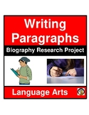 WRITING ASSIGNMENT- BIOGRAPHY- LANGUAGE ARTS- NO PREP