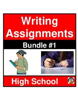WRITING ASSIGNMENTS- BUNDLE (SET 1)- LANGUAGE ARTS- NO PREP