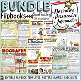 NARRATIVE/OPINION/BIOGRAPHY WRITING BUNDLE:  FLIPBOOKS/INTERACTIVE NOTEBOOK