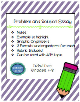 WRITING BUNDLE~ Problem-Solution, Compare-Contrast and Explanatory Essay