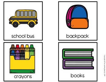 Back to School Themed Writing Center for PreK, Kindergarten, and Special Ed.