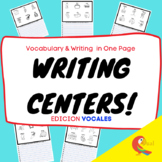 WRITING CENTERS! WRITING & VOCABULARY ON THE SAME PAGE :)