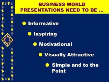 """WRITING EFFECTIVE PRESENTATIONS IN THE WORKPLACE (PPT) """"Design Real World PPTS"""""""