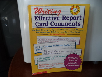 WRITING EFFECTIVE REPORT CARD COMMENTS  0-590-06882-2