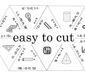WRITING EQUATIONS given 2 points - a TARSIA jigsaw puzzle