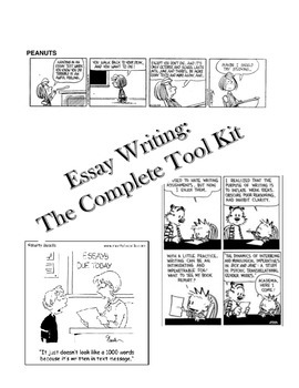 WRITING ESSAYS ABOUT LITERATURE: A COMPLETE TOOLKIT