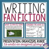 FAN FICTION WRITING PRESENTATION, HANDOUT, & GRAPHIC ORGANIZERS