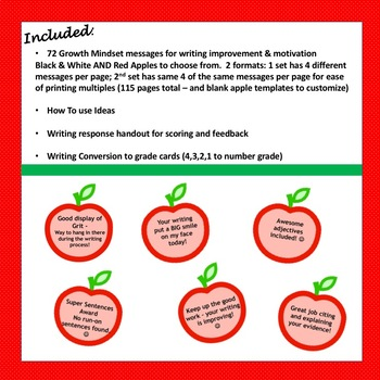 WRITING FEEDBACK - A Growth Mindset Approach to Improve Writing