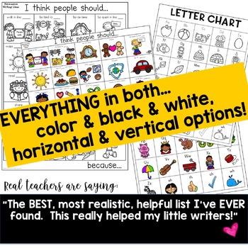 WRITING FOLDER TOOL KIT ... letter charts, goals, word walls, story ideas
