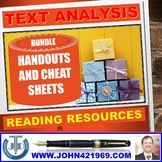 TEXT ANALYSIS HANDOUTS AND CHEAT SHEETS BUNDLE
