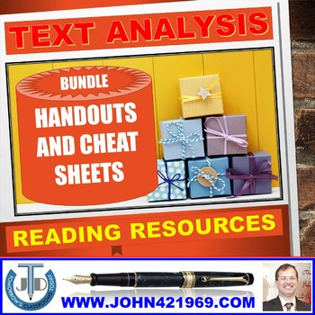 READING FOR TEXT ANALYSIS HANDOUTS BUNDLE